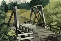 pescadero bridge by george booth post