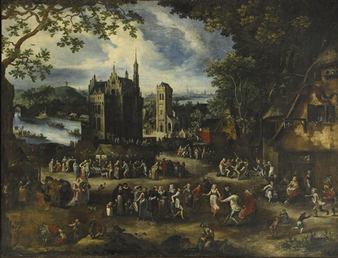 the kermesse of saint george by david vinckboons