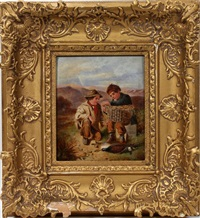 children with game trophies by william hemsley
