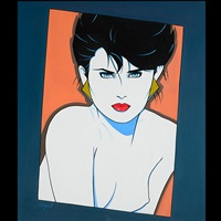 portrait of a woman by patrick nagel