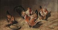 hahn und hühner by eugène cottin