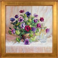 purple anemones by dot bunn