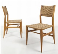 due sedie ca 601 by gio ponti