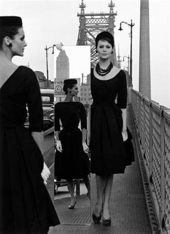 mirror + queensboro bridge, new york by william klein