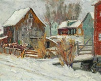 winter view of a farm by american school-new hope (20)