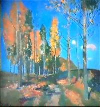 paysage d'automne by vladimir litvinienko