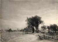 untitled (winter landscape) by léonard misonne