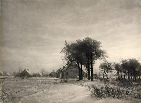 untitled winter landscape by léonard misonne