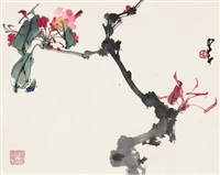 海棠图 (begonia) by zhao shaoang