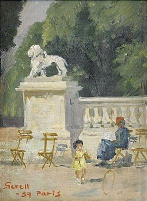 liten flicka med tunnband parkbild från paris by greta gerell