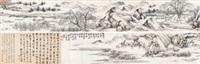 秋泛采菱图卷 手卷 纸本 by shen zhou