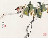 雀趣图 (bird on branch) by zhao shaoang