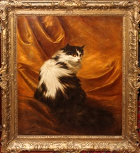 seated cat by carl kahler