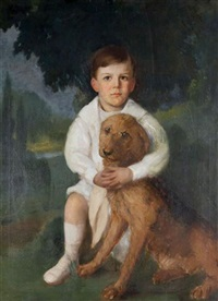 boy and his dog by lydia field emmet