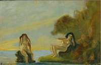 bathers by louis michel eilshemius