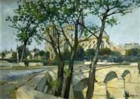 le pont de l'archevêché by constantine kluge