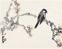 喜上枝头 (bird on branch) by zhao shaoang
