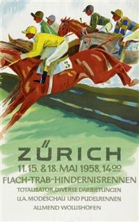 flach-trab-hindernisrennen zürich by herbert b. libiszewski