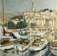 scène de port by constantine kluge