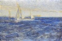 segelbåtar, fjällångsfjärden by johann axel gustaf acke