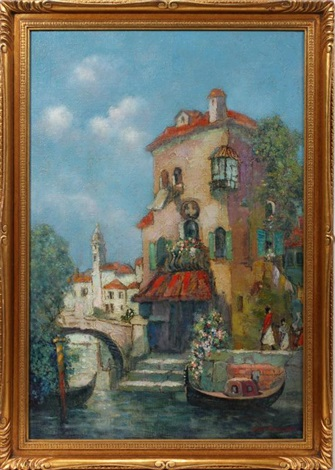 venetian canal scene by jane peterson