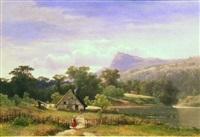 nordic landscape by sophus jacobsen