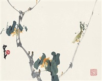 螳螂图 (mantis on branch) by zhao shaoang