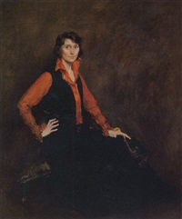 woman in riding habit by william henry cotton