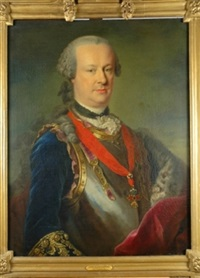 portrait of a nobleman in armor, wearing the order of the golden fleece by johann georg ziesenis