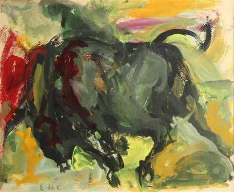 juarez series no 20 by elaine de kooning