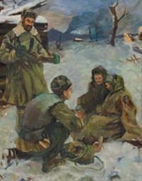 krieg im winter – soldaten geben zwei hungernden frauen zu essen by anonymous-ukrainian (20)