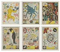 max and gaby's alphabet portfolio (the complete set of 26 works) by tony fitzpatrick