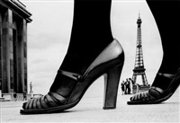 paris, shoe + eiffel tower d by frank horvat