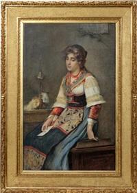 woman holding letter by publio de tommasi