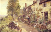at porlock weir, somerset by herbert sidney percy