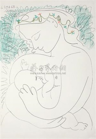 母爱 love from mother by pablo picasso