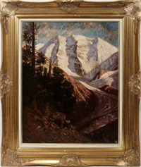 mountain scene by bruno hess
