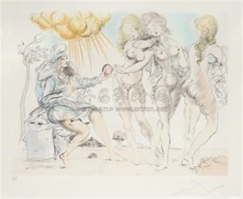 巴黎的审判 judgment of paris by salvador dalí
