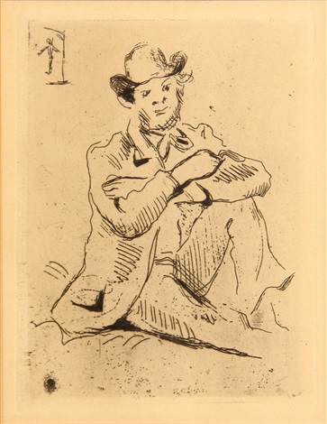 portrait du peintre armand guillaumin au pendu by paul cézanne