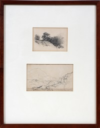 gap of dunloe no.2 and untitled (2 in 1 frame) by john frederick kensett