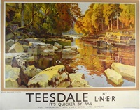 teesdale by ernest william haslehurst
