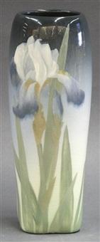 rookwood iris vase by lenore asbury