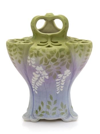 pierced wisteria vase by edmond lachenal