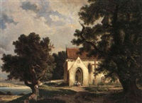 kirche am see by hermann herdtle