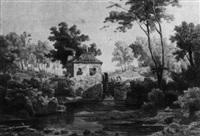 wassermühle mit steinerner brücke by julius zielke
