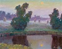 dusk by vasil perevalsny