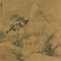 冬夜独坐 (sitting in winter studio) by bian wenyu