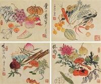 清供册页 (四张) (album of 4) by xu gu