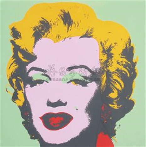 玛丽莲梦露(绿色) monroe green by andy warhol