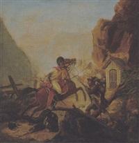 szene aus dem tiroler befreiungskrieg by johanes baptiste pflug
